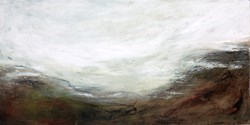 Peace Mountains by Frances Ackland Snow -  sized 18x9 inches. Available from Whitewall Galleries
